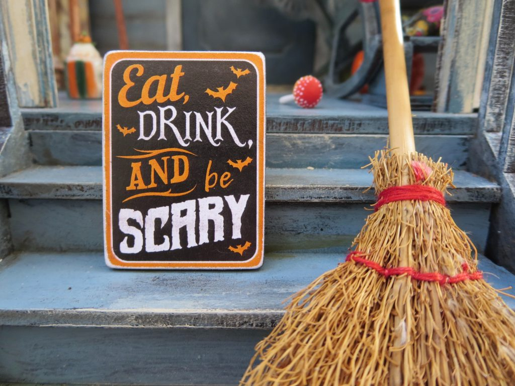 On this Halloween, you can eat, drink and be scary.