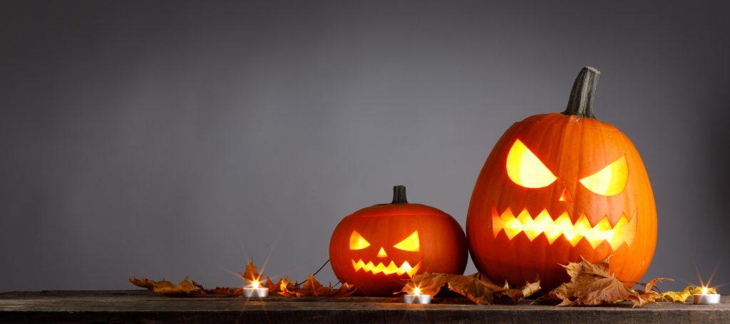 two cute pumpkin