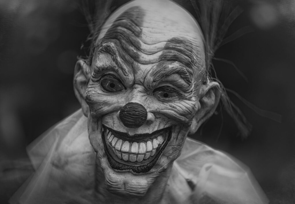 Happy Halloween Costumes skull smile showing teeth andbald