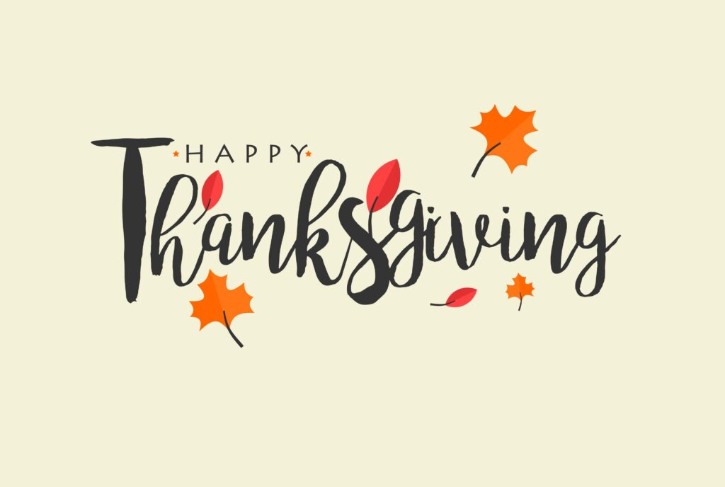 Happy thanksgiving text with vector watercolor autumn leaves and branches isolated on white background. Happy thanksgiving text with vector watercolor autumn leaves and branches isolated on white background. Autumn illustration for greeting cards, quote and decorations. Hand drawn lettering. Thanksgiving - Holiday thepsp