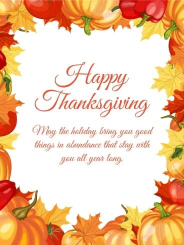 Thanksgiving Message 2021