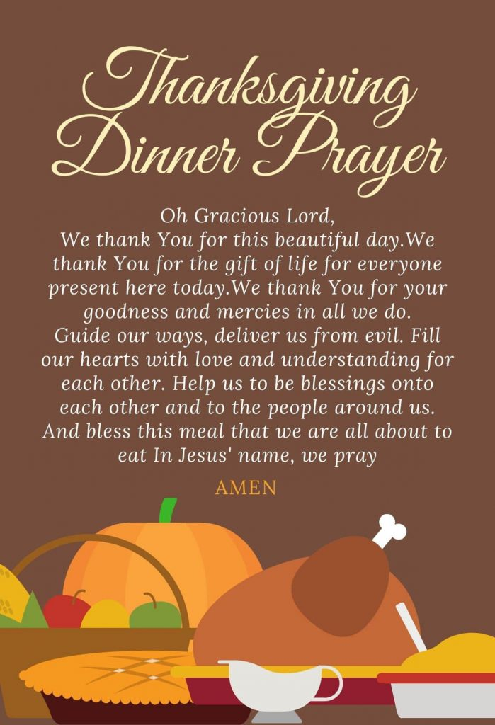 Thanksgiving prayer before meal
