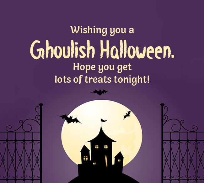 halloween greeting card messages