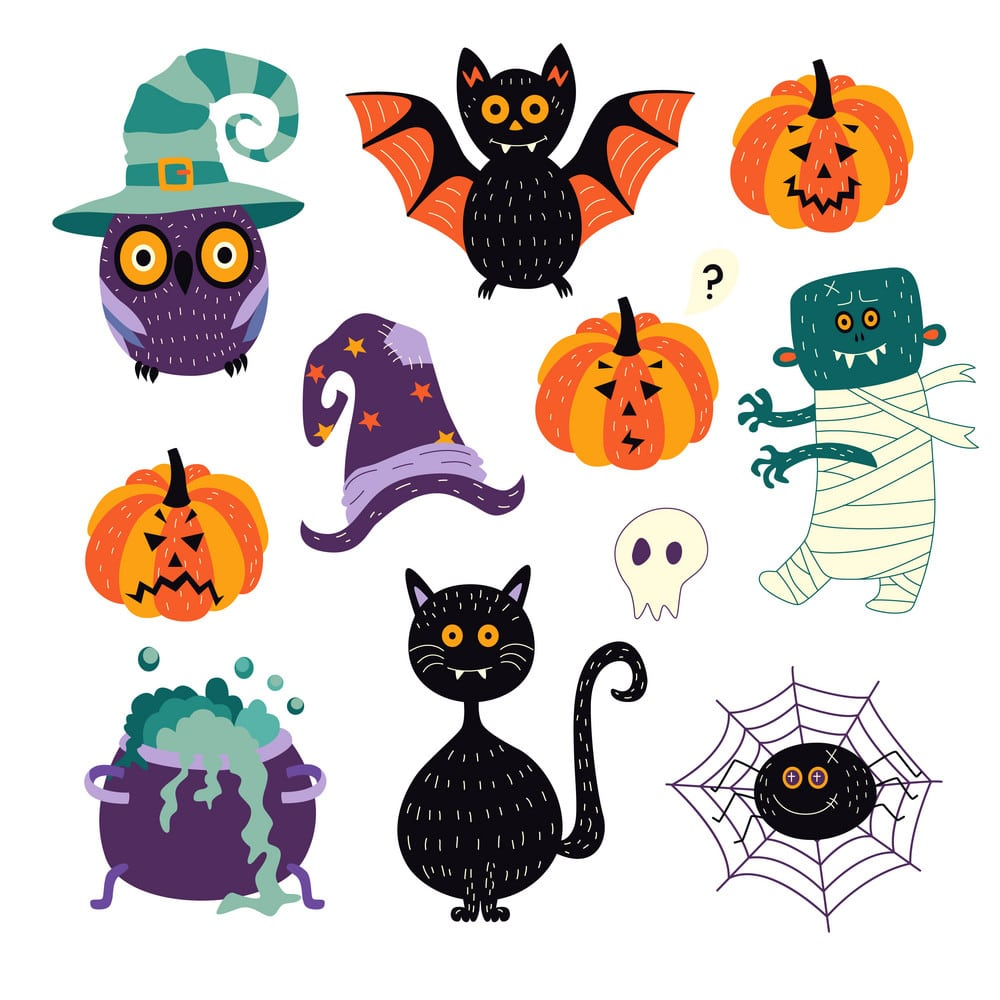 halloween symbols copy and paste
