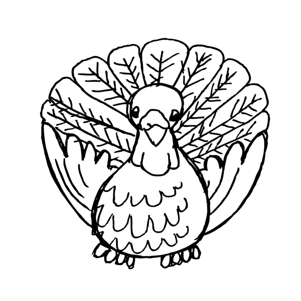 happy Thanksgiving coloring page