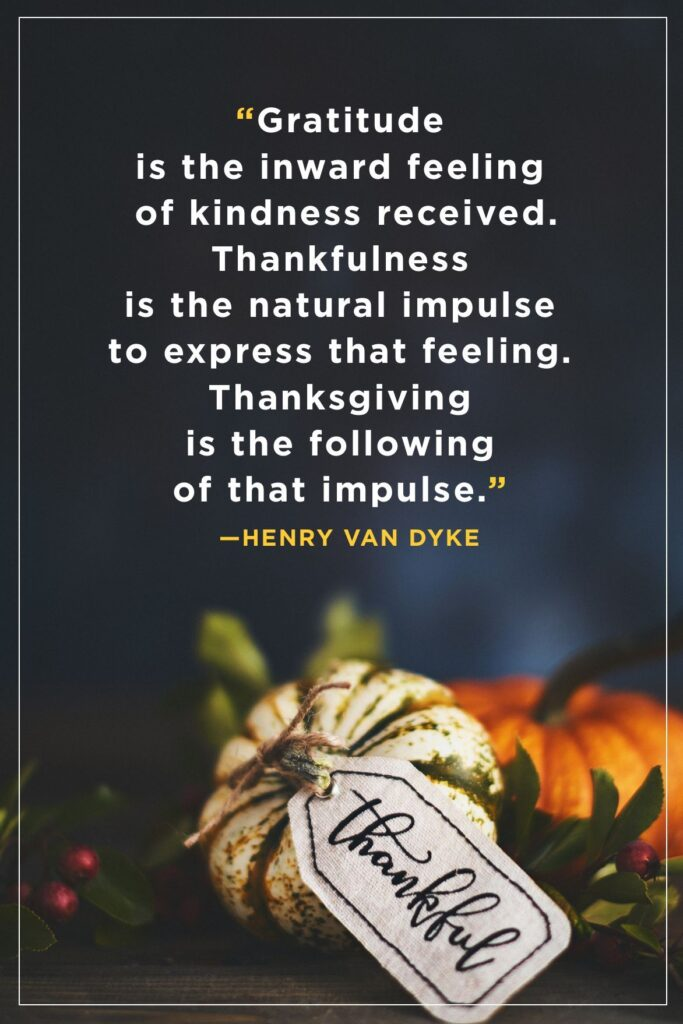 Gratitude is the inward feeling of kindness received.