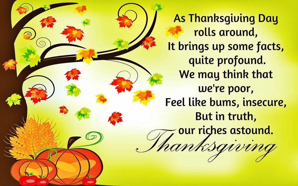 short happy thanksgiving wishes