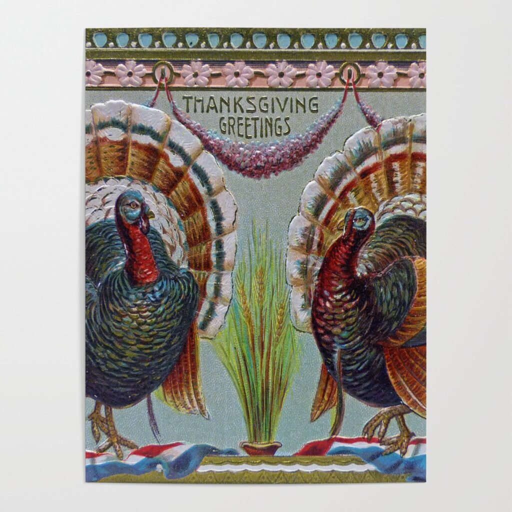 In this frame, two turkeys are dancing