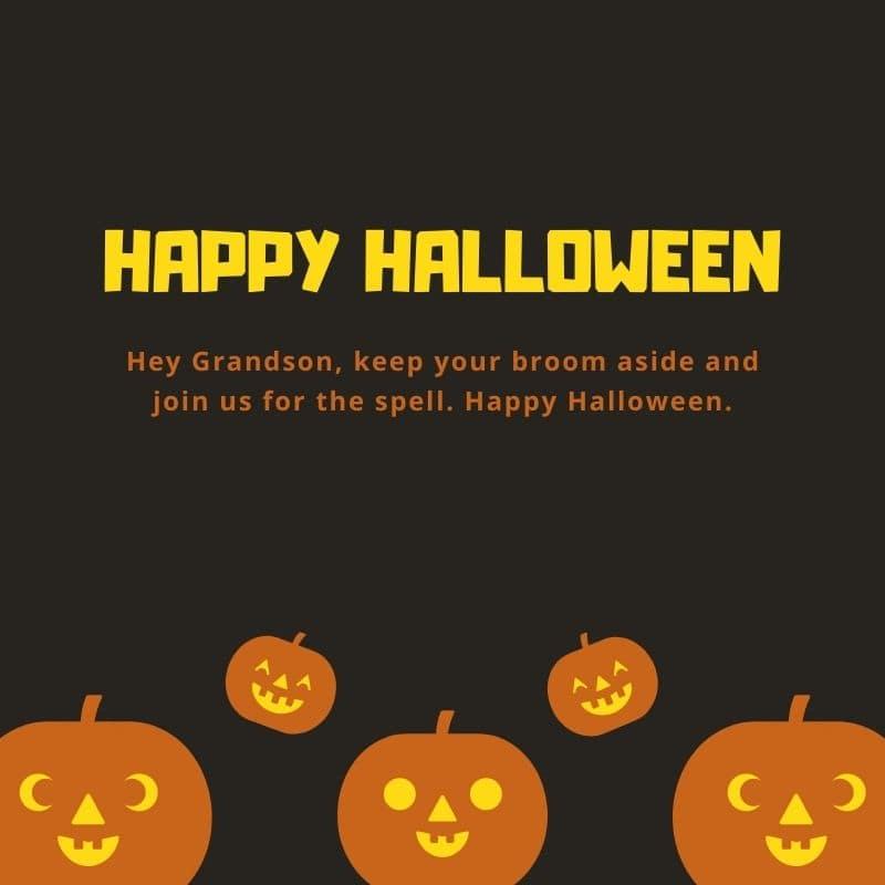 wordings for happy halloween grandson