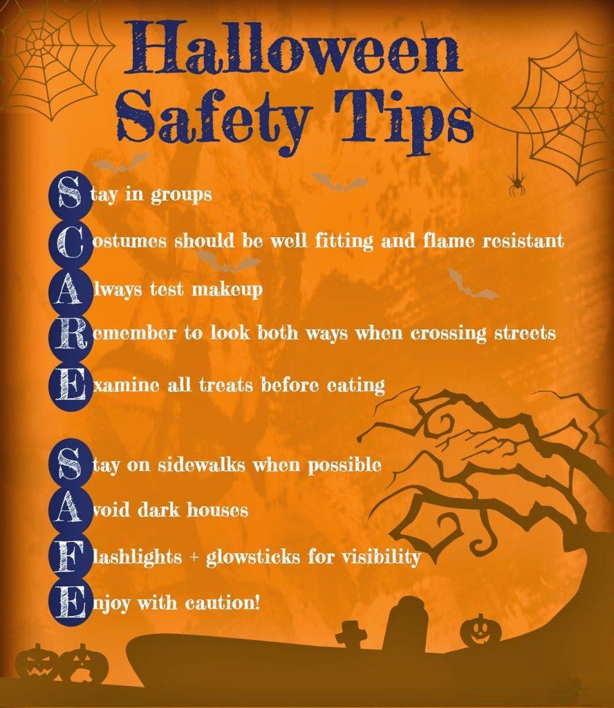 Halloween safety tips 2021