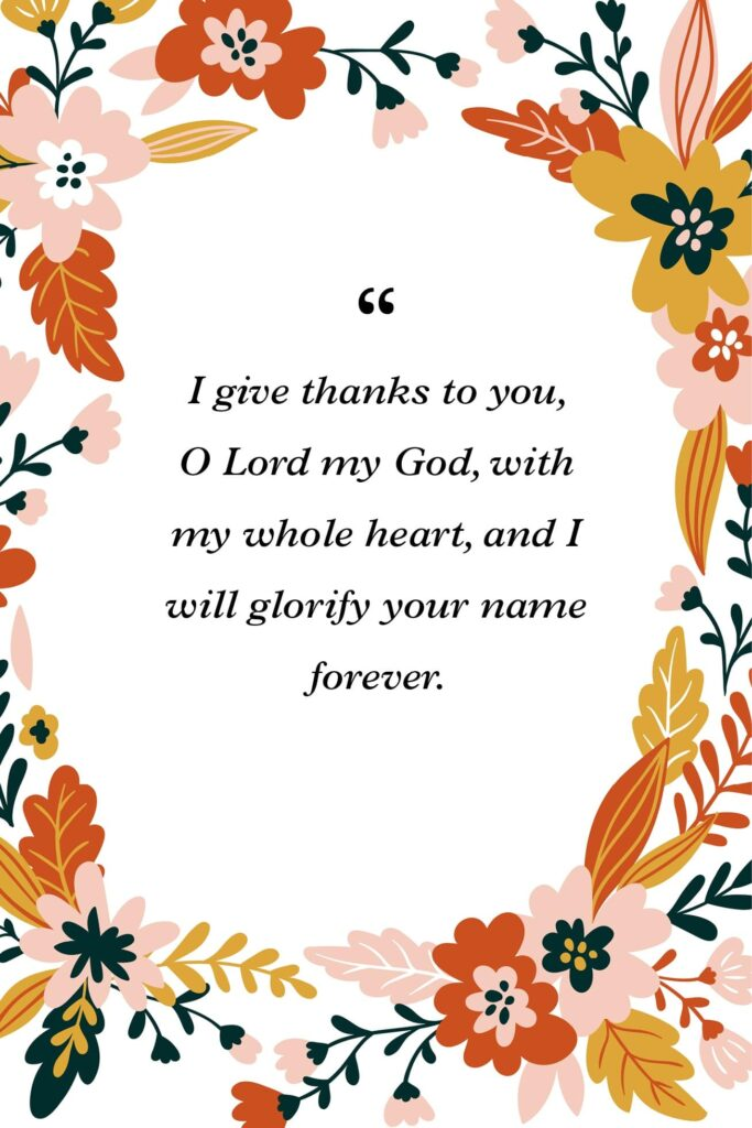 giving thanks bible verses