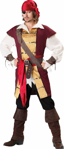 Boy are wearing full pirates costumes