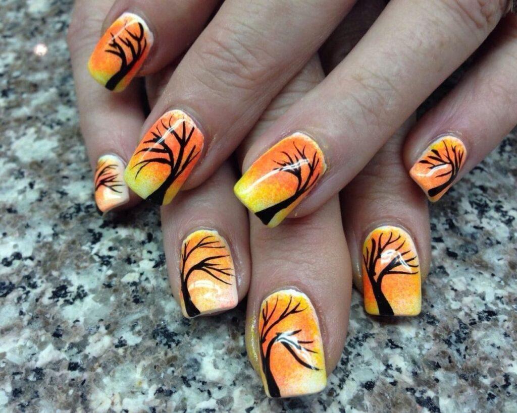 fall nails colors